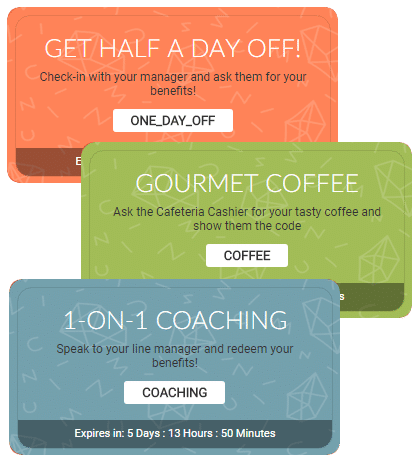 gamification platform coupons system