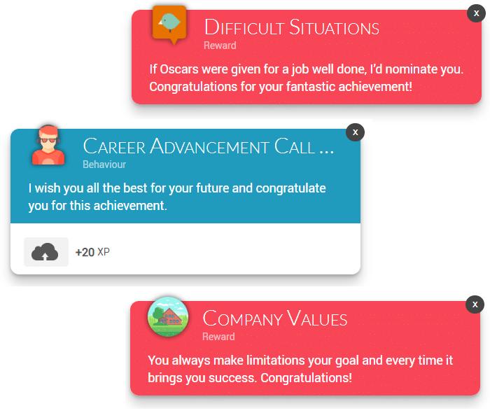 gamification platform notifications