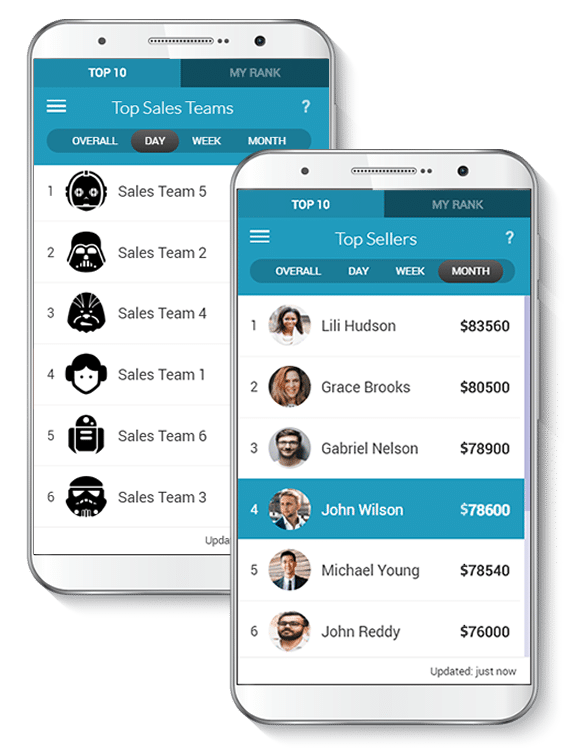 sales gamification app screenshot
