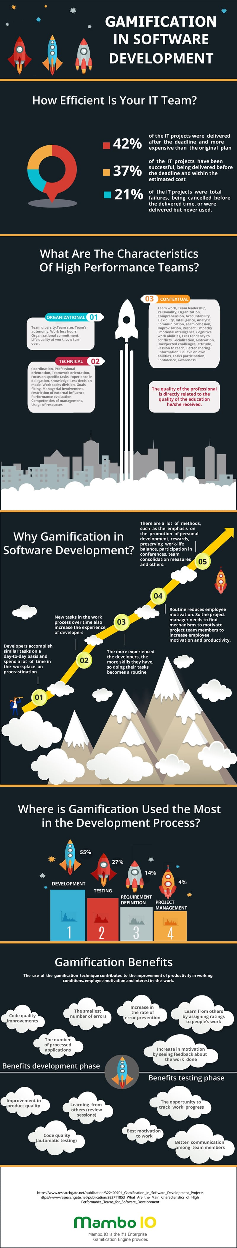 Software Development Gamification Infographic